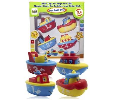 Product image of 3 Bees & Me Magnet Boat Set Bath Toys