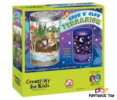 Product image of Grow n Glow Terrarium - Science Kit for Kids