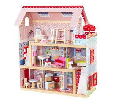 Product image of KidKraft Chelsea Doll Cottage with Furniture