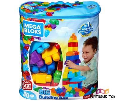Product image of Mega Bloks 80-Piece Big Building Bag
