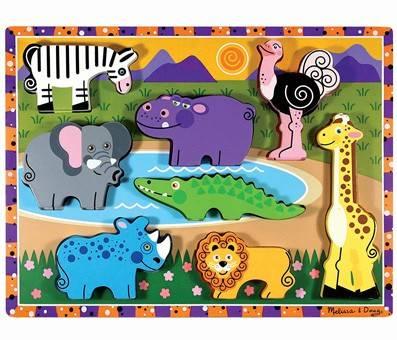 Product image of Melissa & Doug Safari Wooden Chunky Puzzle