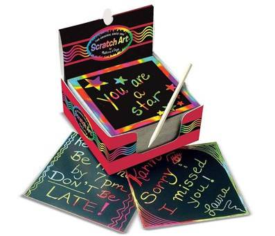 Product image of Melissa & Doug Scratch Art Box of Rainbow Mini Notes