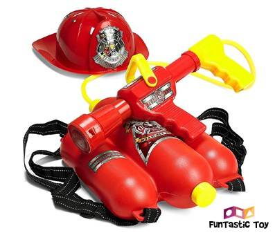 Product image of Prextex Fireman Backpack Water Gun Blaster with Fire Hat