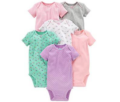 Product image of Simple Joys by Carters Baby Girls 6-Pack Short-Sleeve Bodysuit