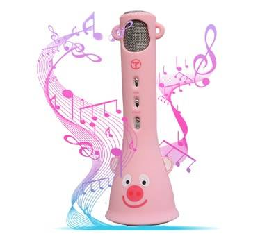 Product image of TOSING Pink Wireless Karaoke Microphone for Girls