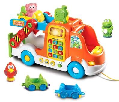Product image of VTech Pull and Learn Car Carrier Pull