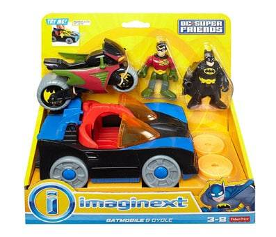 Product image of Fisher-Price Imaginext DC Super Friends Batmobile & Cycle