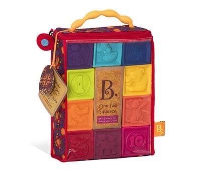 Product image of B Toys One Two Squeeze Baby Blocks
