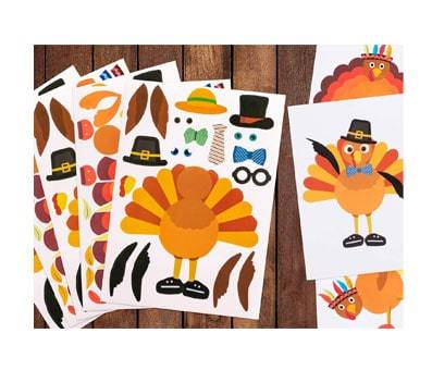 Small Product image of Make-A-Turkey Stickers