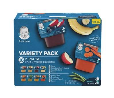 Product image of Gerber Purees 2nd Foods (Variety Pack)