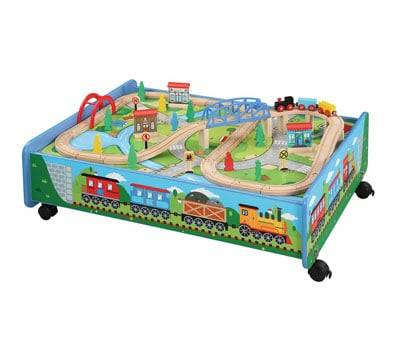 Product image of Maxim Wooden Train Set with Play Table